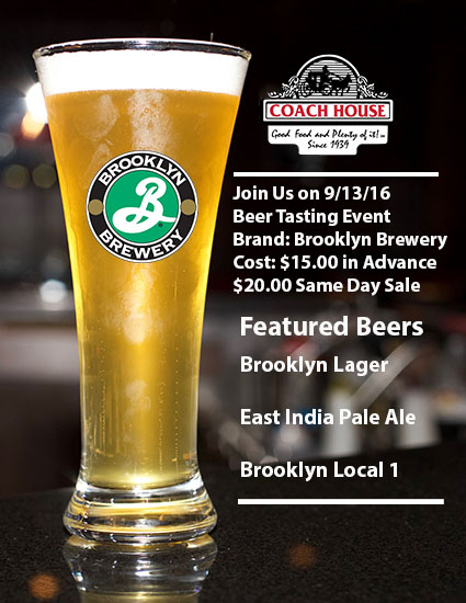 Brooklyn Brewery Tasting Event